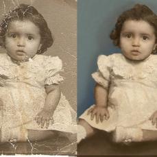 antes y después niña